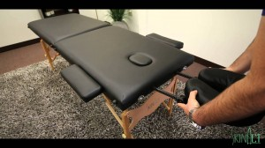 Every massage therapists friend, a portable massage table