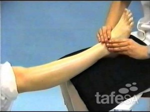 Massage courses tafe, foot and leg example